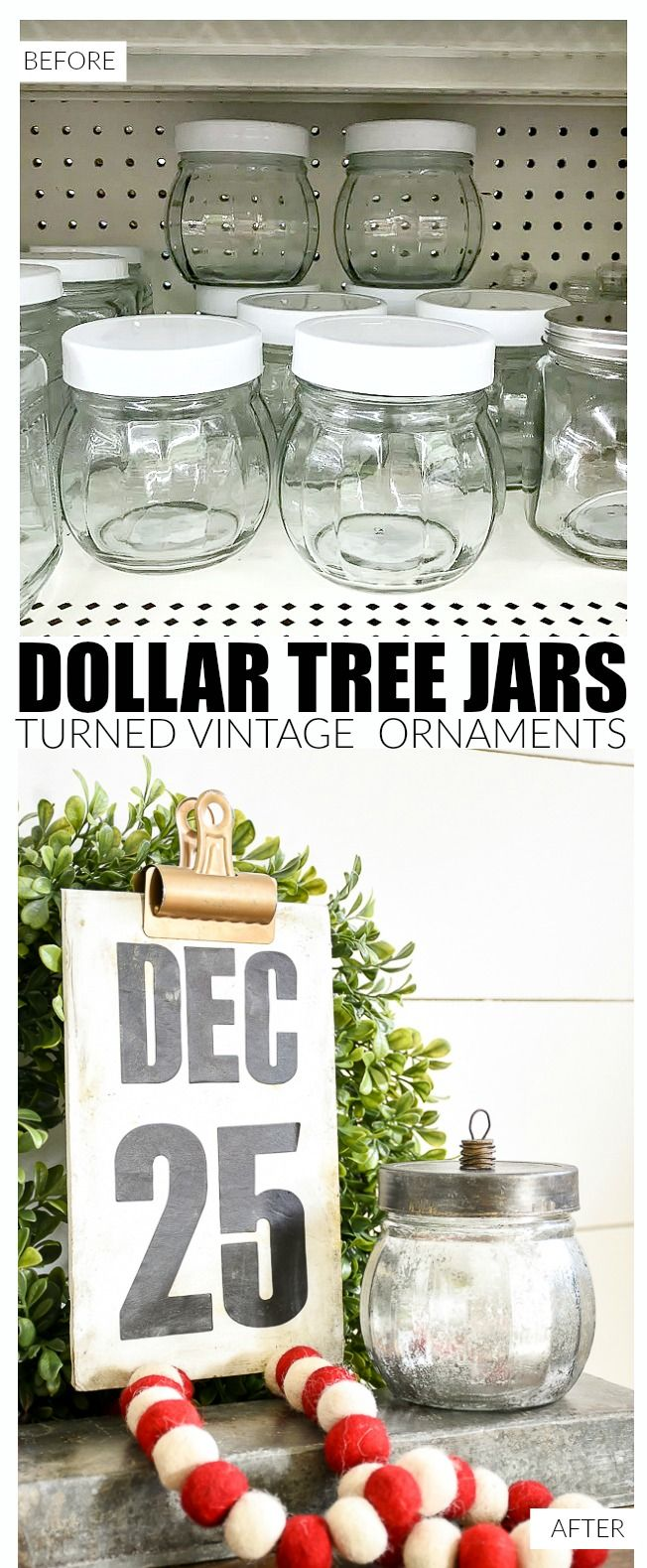 How To Make Vintage Inspired Ornament Candy Jars Dollar Store
