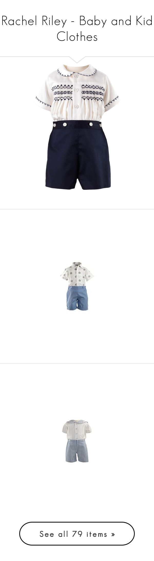 """""""Rachel Riley - Baby and Kid Clothes"""" by immortal-longings ❤ liked on Polyvore featuring pants, cotton pants, blue pants, button pants, cotton trousers, blue cotton pants, intimates, sleepwear, pajamas and jumpsuits"""
