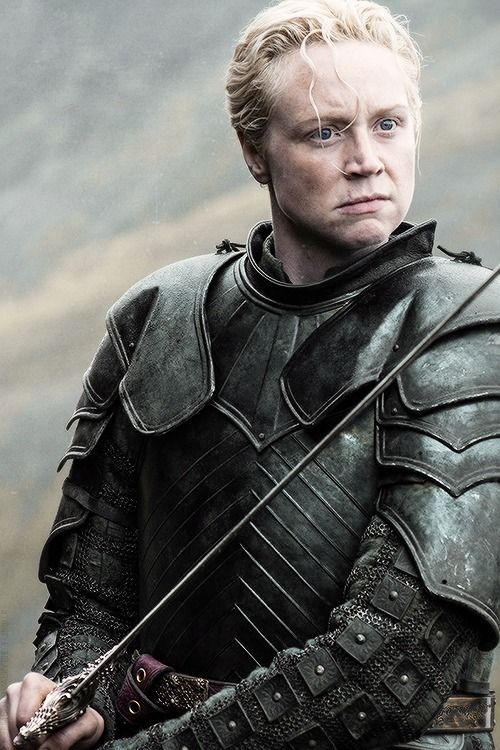 BRIENNE OF TARTH ~ GREAT WARRIOR OF HEART AND STEEL.  I LOVE HER CHARACTER, BRILLIANTLY PLAYED BY GWENDOLYN CHRISTIE
