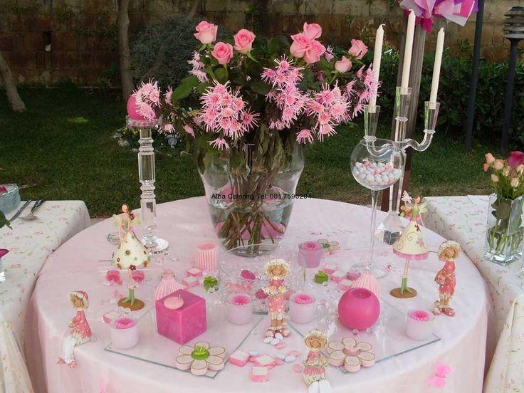 Comunione in rosa allestimento tavoli table decorations catering e furniture - Tavolo per prima comunione ...
