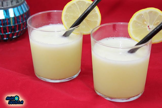 Granizado de limón Ana Sevilla con Thermomix