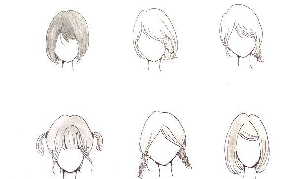Tutorial menggambar rambut pendek manga cewek | MAYAGAMI