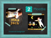 Belly Bops Monthly Milestone stickers