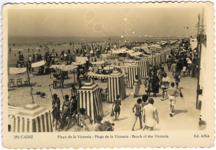Playa Victoria Cadiz Spain años 30