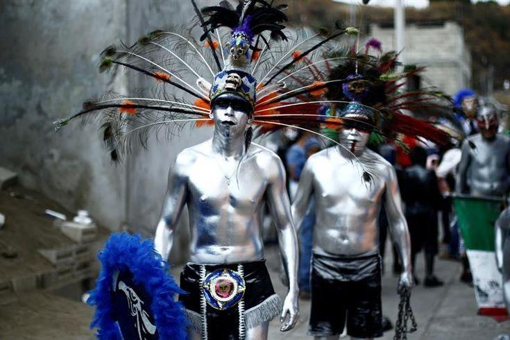 Xinacates, danza prehispánica de hombres semidesnudos para expulsar demonios