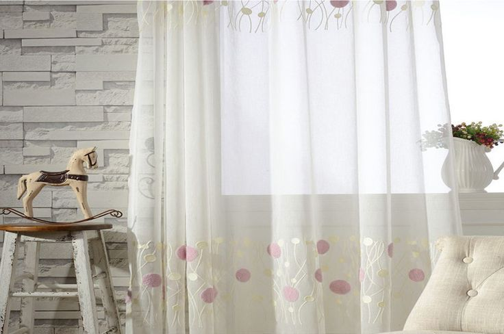 These are simple but elegant sheer curtains. great quality and great price. Refresh your room with the decorative fretwork window panel. The scroll geometric print is simple yet trendy, featuring a white ground with soft pink circles and soft purple fretwork for a natural update. The panel is made with a seersucker fabric softly filtering the perfect amount of sunlight into your home. Grommet top detail makes it easier to hang, open, and close panels throughout the day.