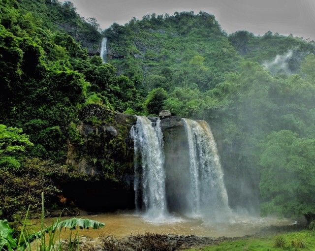 Curug Sodong or Sodong Waterfall, it is also called Couple Waterfall. It is said this Waterfall is one of the mystical places in West Java. Located in Ciemas area, Sukabumi, West Java.