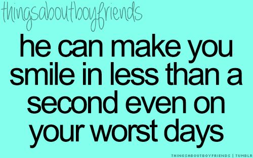Absolutely. If I'm having a bad day, all I have to do is talk to him for just a minute...makes everything better!