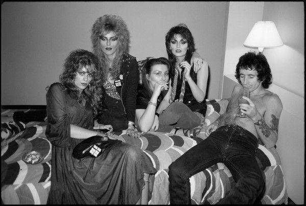 Bon Scott heavy drinker and the Heathen Girls Atlanta Georgia 1978