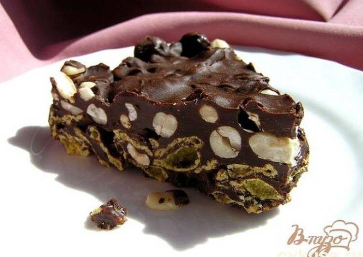 Хрустящий шоколадный торт