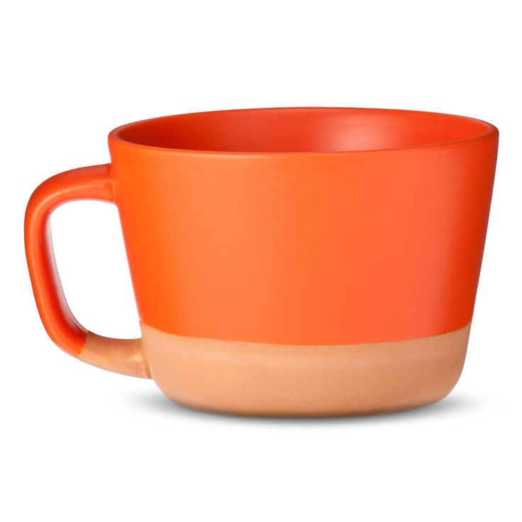 Stoneware Coffee Mugs Set of 4 - Orange - Threshold