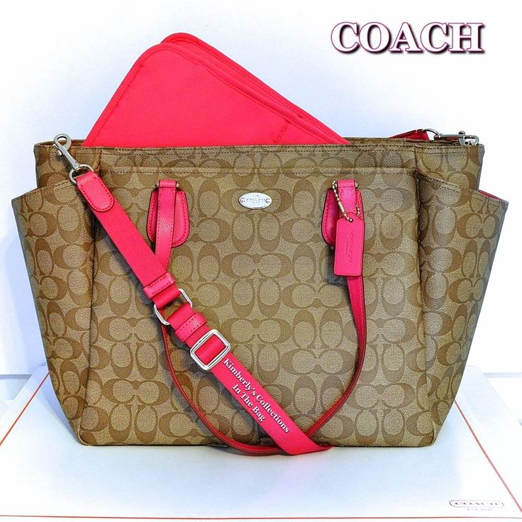 COACH Signature Multi-Function Diaper Bag Tote #Coach #DiaperBag #BabyShowerGift