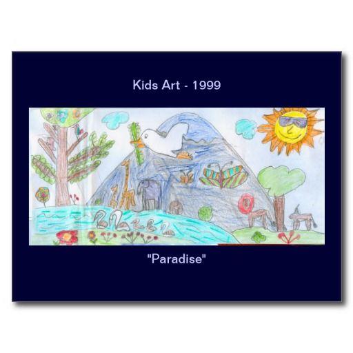 Paradise Kids Art Postcard #1999