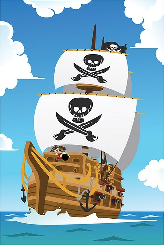 Clumsy Pirate ship