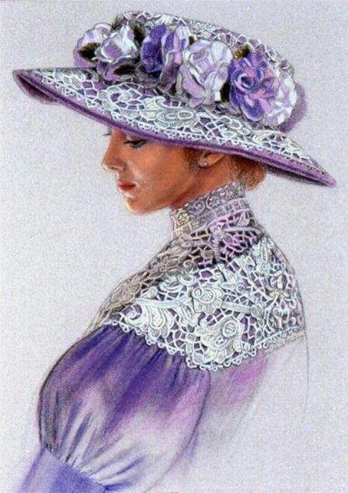 Sue Halstenberg - Victorian Lavendar Lace Lady Hat