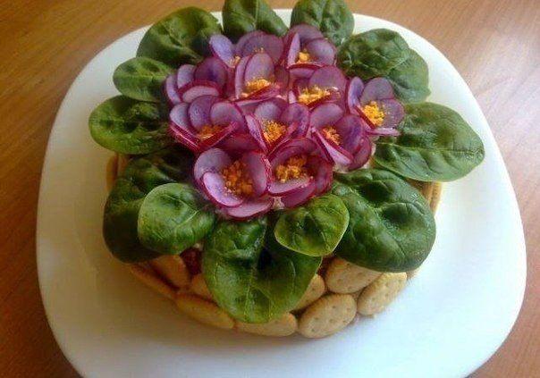 """Как приготовить салат """"Фиалки"""""""