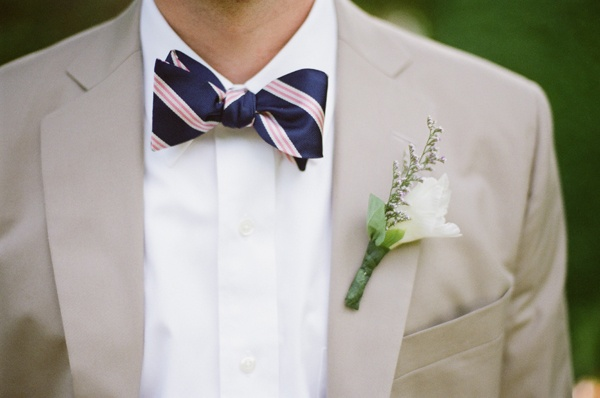 pretty pink and navy bow tie