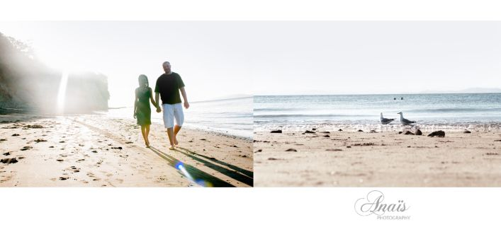 Beautiful couple walking on the beach | Hand in hand | Auckland | Shakespeare Bay