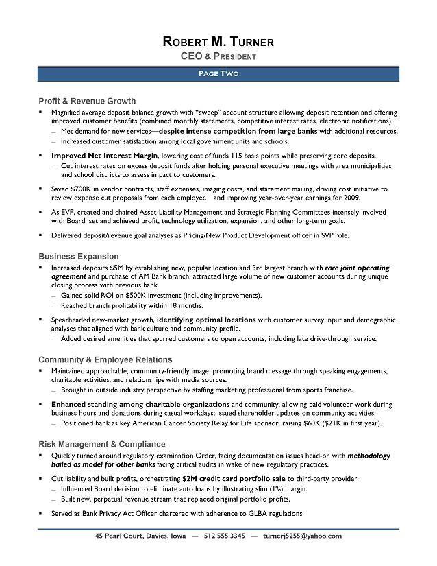 Award-Winning CEO Sample Resume - CEO Resume Writer - Executive resume writer.