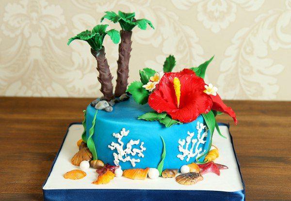 """Торт """"Райский остров""""  На земле так много райских островов, но самый вкусный только в кондитерской Абелло. Этот яркий и #оригинальныйторт привнесет на ваш праздник запах моря и лета, а взглянув на него вы точно не забудете это неземное чувство!  С удовольствием изготовим #лучшийторт от 2-х кг и всего 2150₽/кг.  Менеджеры #Абелло готовы помочь с выбором красивого и качественного десерта по любому поводу по единому номеру: +7(495)565-3838 Телефон/WhatsApp/Viber.Наш сайт с примерами работ…"""