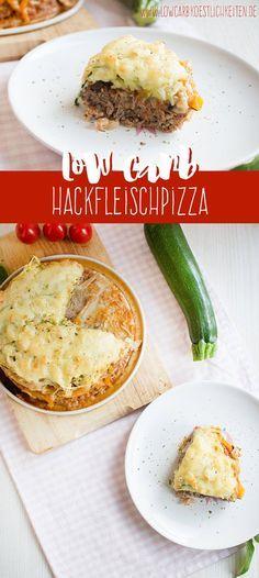 Low Carb Hackfleischpizza mit Zucchinispaghetti www.lowcarbkoestlichkeiten.de