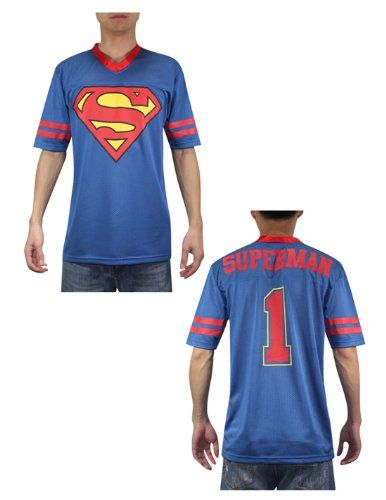 Superman #1 Mens Mesh V-Neck Short Sleeve T Shirt / Tee XL Blue @ niftywarehouse.com #NiftyWarehouse #Superman #DC #Comics #ComicBooks