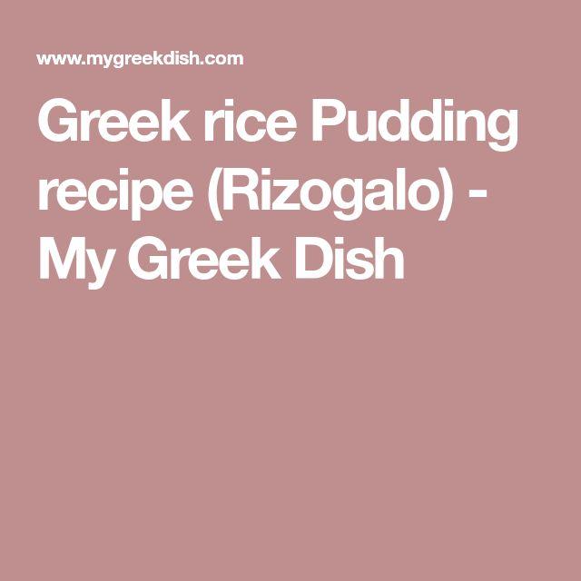 Greek rice Pudding recipe (Rizogalo) - My Greek Dish