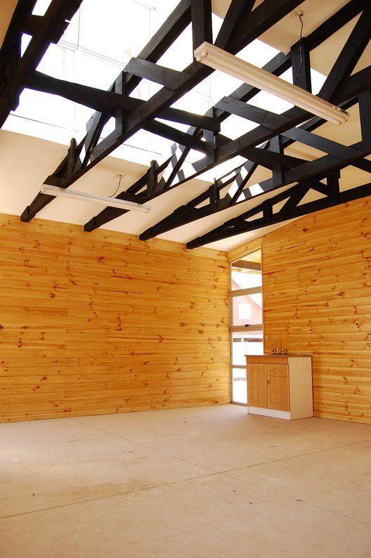 Sede Social Lontué / Camila Rock De Luigi / Estructura madera / pabellon