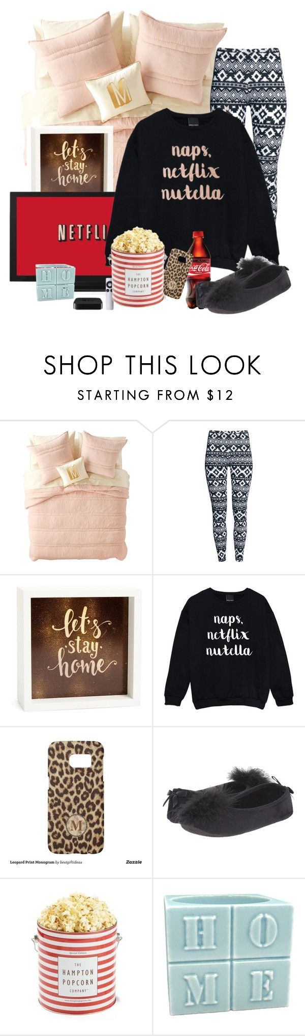 """""""Netflix & Sleep"""" by hope-houston on Polyvore featuring Nordstrom Rack, H&M, LightBoxArts, Samsung and Patricia Green"""