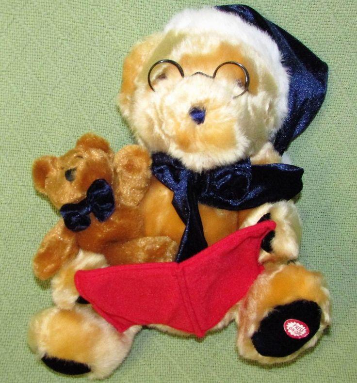Dan Dee Animated Talking TEDDY Bear Twas The Night Before Christmas Toy + Lovey