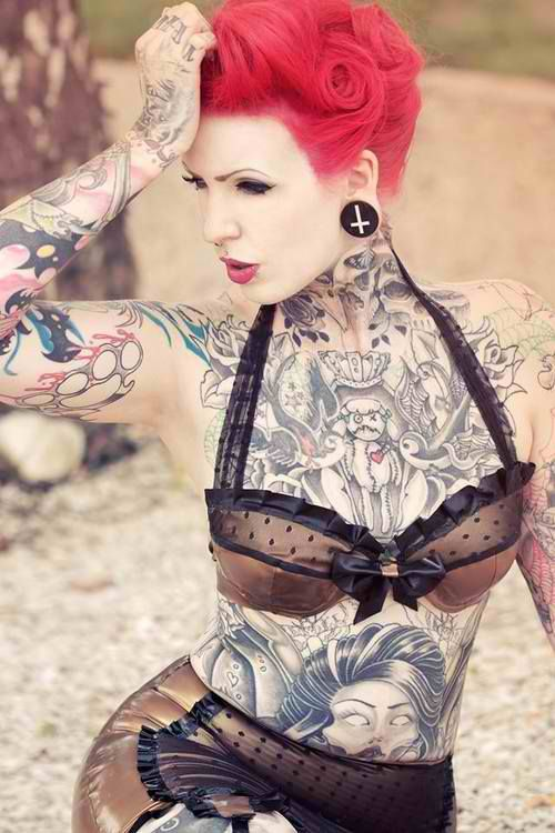 126 best thick images on pinterest full figured simple for Chubby tattooed girls