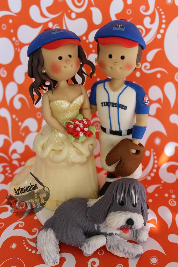 Novios personalizados para los amantes del beisbol