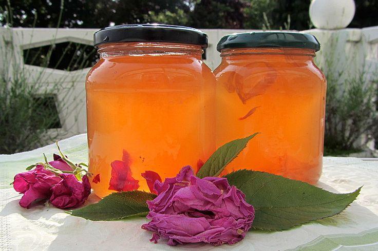 Apfel - Rosen - Gelee mit Safran