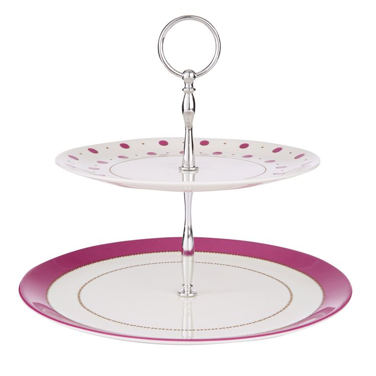 Darcey Cake Stand: Painterly Floral Collection