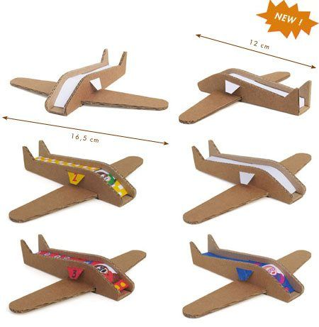Cardboard planes, creative leisure made in France | via pirouette cacahouete