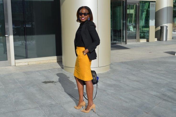 Mustard + Yellow + Skirt