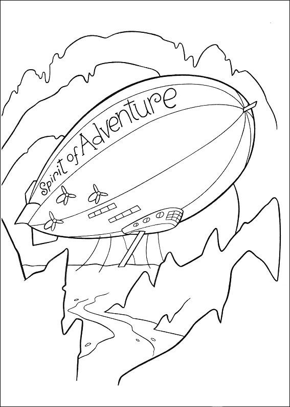 pixar up coloring page 022