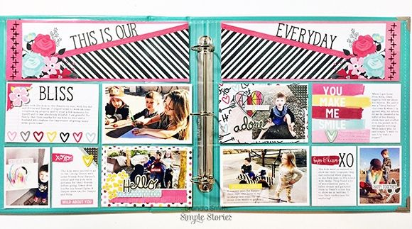 Pocket page spread from creative team member Brenda Smith using our Love & Adore collection