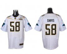 Carolina Panthers #58 Thomas Davis Sr White 2016 Pro Bowl E
