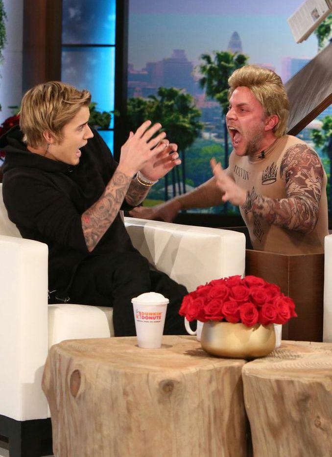 Hahaha Justin Bieber's face!