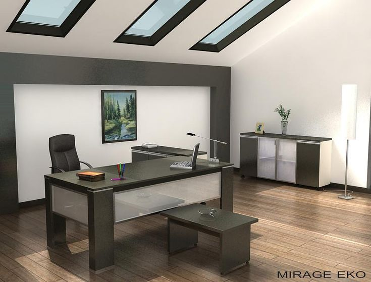 Elegant Modern Office Decorating Ideas For Men Grey Accents Hard Wood Flooring