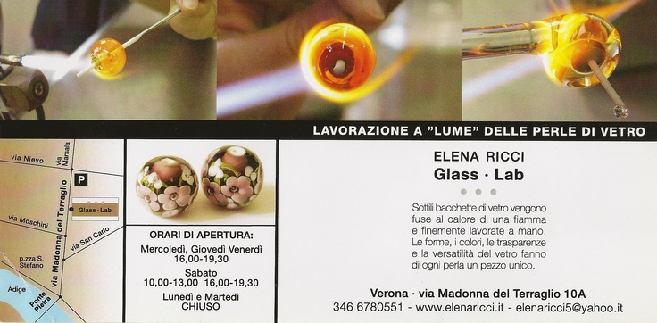 """Elena Ricci - Lavorazione """" a lume"""" delle perle di vetro"""