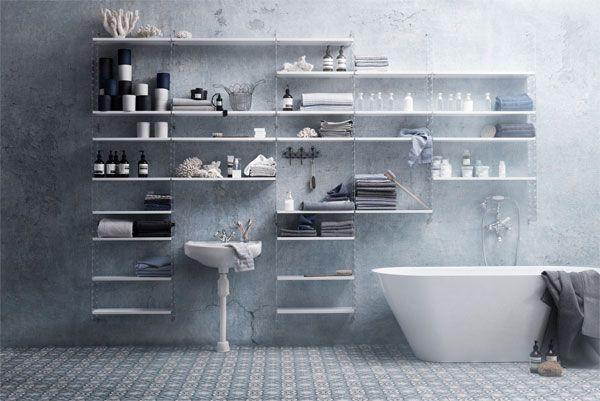 De String wandkast zorgt er voor dat er meer kan worden opgeborgen in de badkamer.