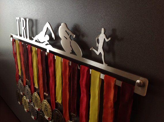 Triathlon-Male  Medal Holder Medals Medal Hangers by MEDALdisplay