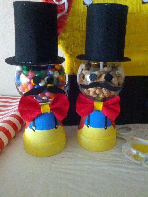 Carnival centerpieces