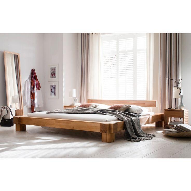 Letto in legno massello Victoria - Legno di faggio - Superficie letto: 140 x 200 cm