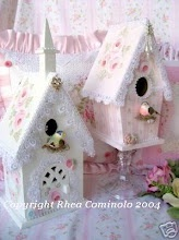 decorate some of my plainer birdhouses and ones at Hobby Lobby when they are on sale