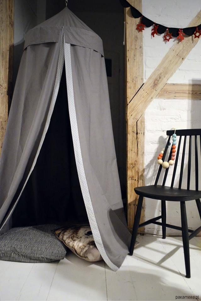 littlenomad teepee tipi wigwam play tent baldachin baldachim handmade white gray kidsroom https://www.facebook.com/HelloLittleNomad