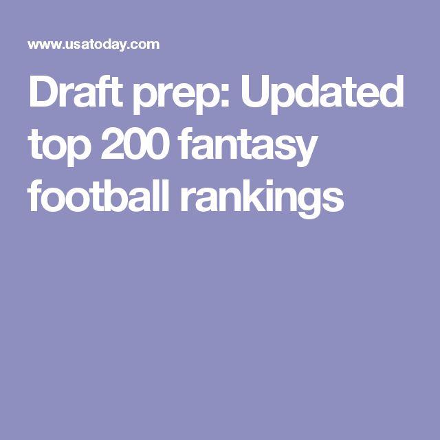 Draft prep: Updated top 200 fantasy football rankings
