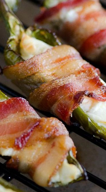 Bacon Wrapped Jalapenos on Pinterest | Bacon wrapped jalapeno poppers ...
